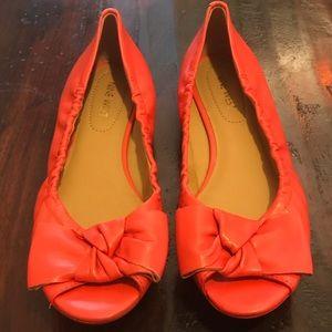 Nine West Orange Mini Peep Toe  Wedge